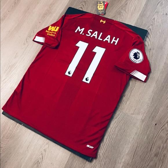 best website c68f7 9f381 Mohamed Salah #11 soccer jersey Liverpool home NWT